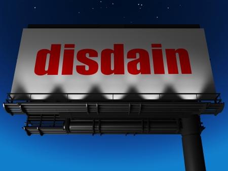 disdain: word on billboard