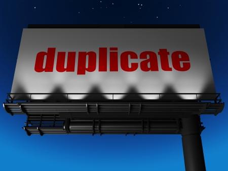 duplicate: word on billboard
