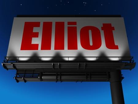 elliot: word on billboard