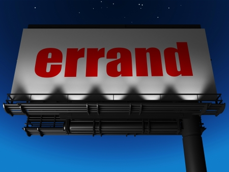 errand: word on billboard