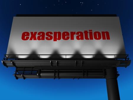 exasperation: word on billboard