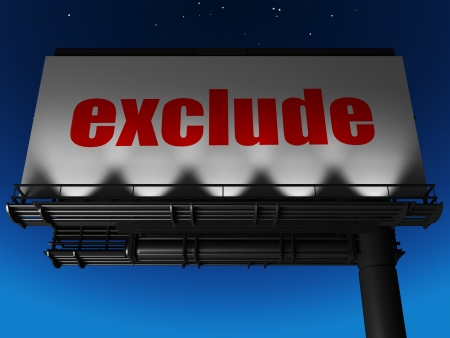 exclude: word on billboard