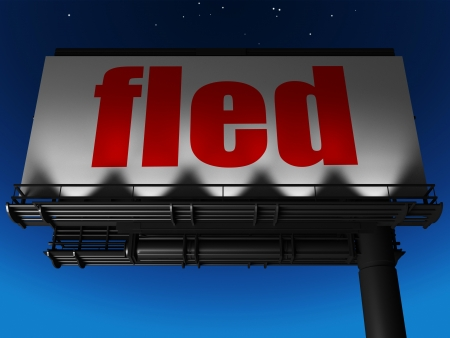 fled: word on billboard