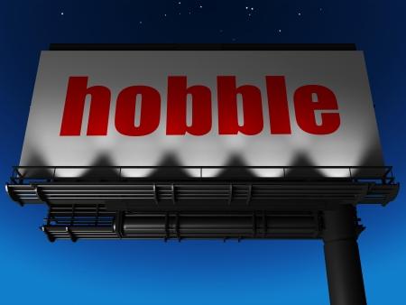 hobble: word on billboard
