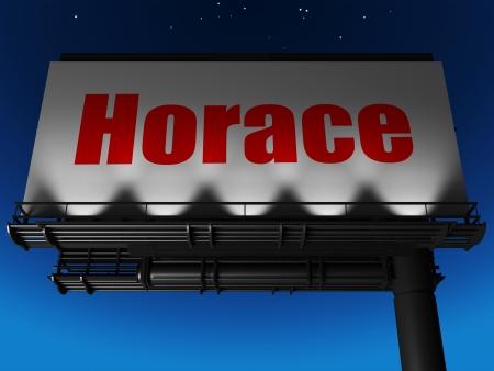 horace: word on billboard