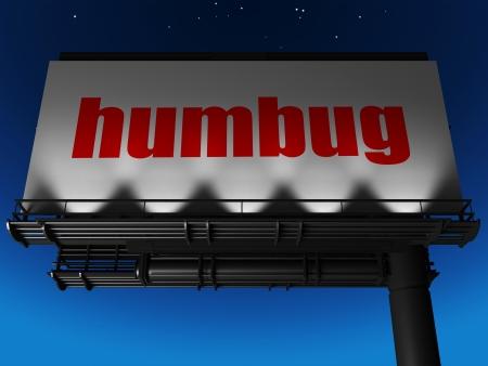 humbug: word on billboard