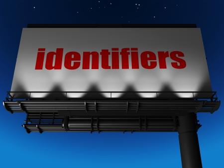 identifiers: word on billboard