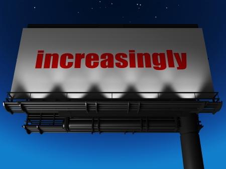 increasingly: word on billboard