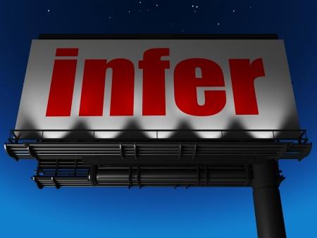 infer: word on billboard