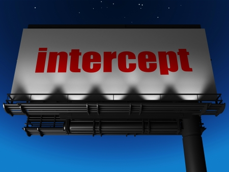 intercept: word on billboard