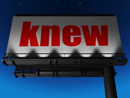 knew: word on billboard