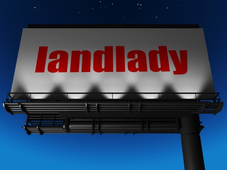 landlady: word on billboard