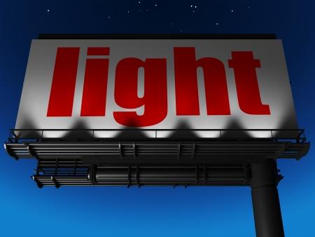 word on billboard Stock Photo - 19227507