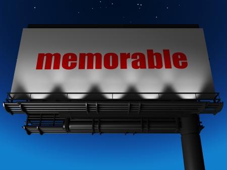 memorable: word on billboard
