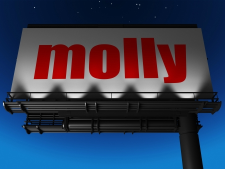 molly: word on billboard