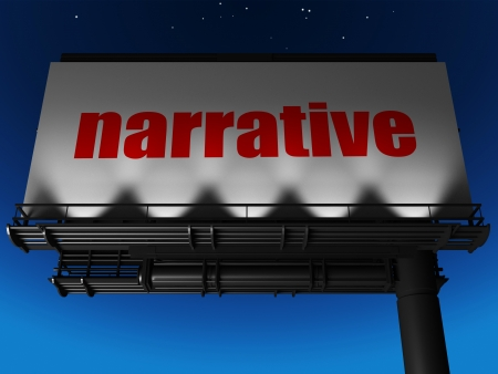 narrative: word on billboard