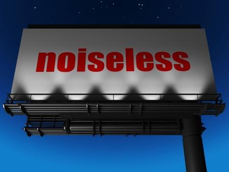 noiseless: word on billboard