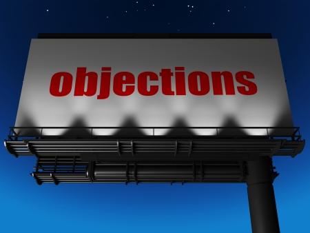 objections: word on billboard
