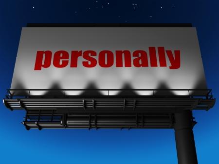 personally: word on billboard