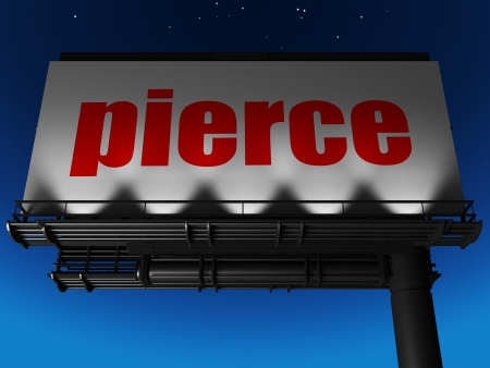 word on billboard Stock Photo - 19233616