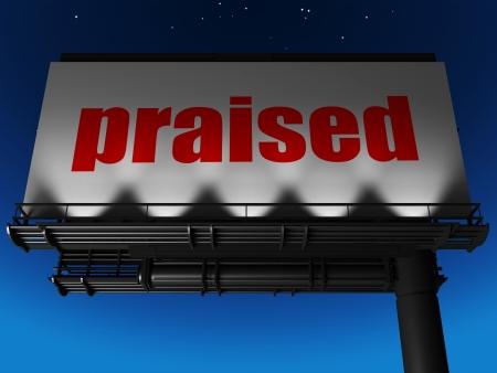 praised: word on billboard