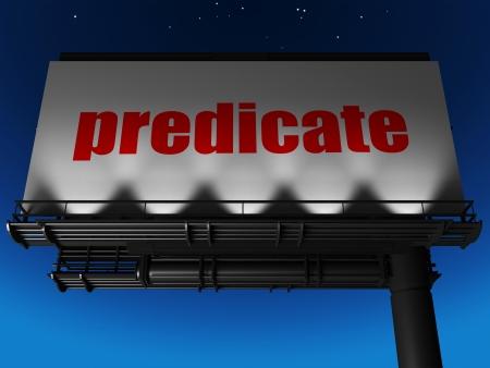 predicate: word on billboard
