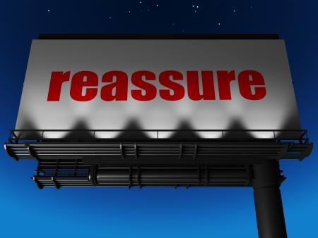 reassure: word on billboard