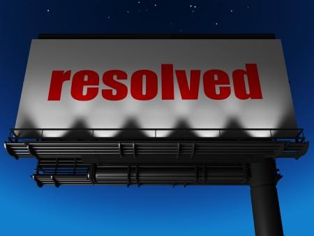 resolved: word on billboard