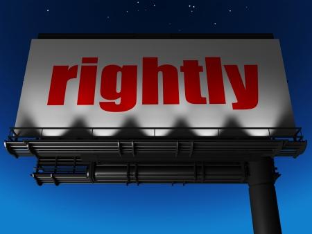 rightly: word on billboard