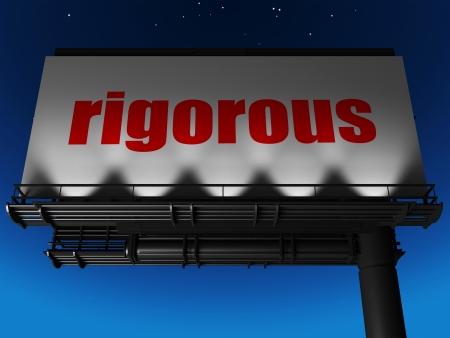 rigorous: parola sul cartellone Archivio Fotografico