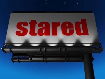 stared: word on billboard