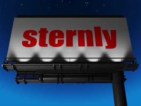 sternly: word on billboard