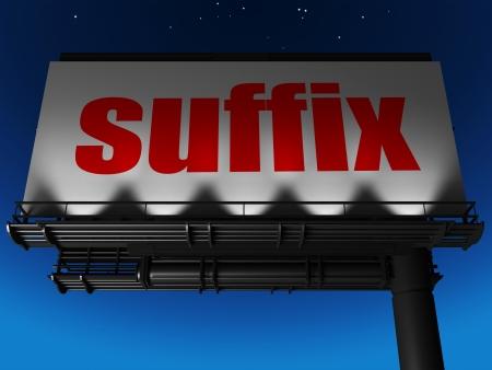 suffix: word on billboard