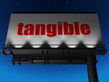 tangible: word on billboard
