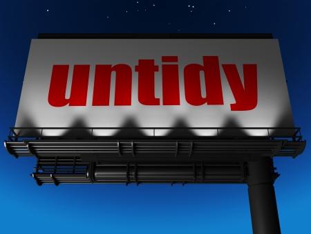 word on billboard Stock Photo - 19243738