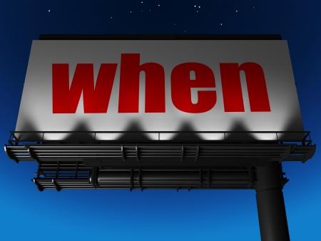 word on billboard Stock Photo - 19321060