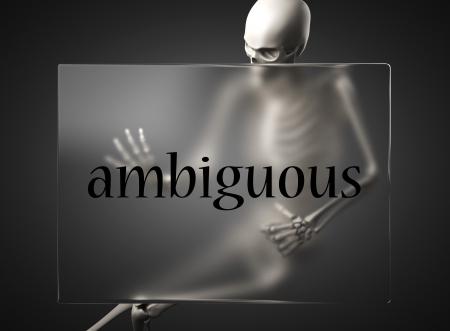 ambiguous: word on glass billboard