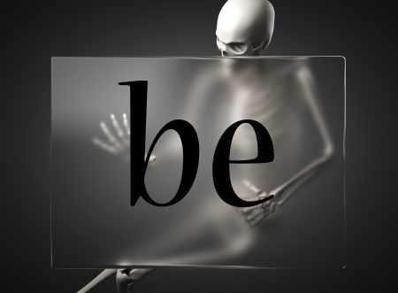 plexiglas: word on glass billboard