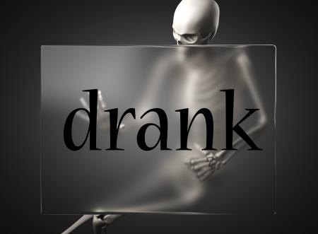 drank: word on glass billboard