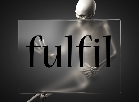 fulfil: word on glass billboard