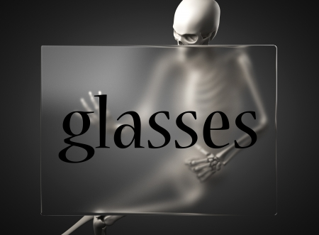 word on glass billboard photo
