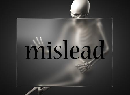mislead: word on glass billboard