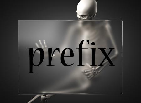 prefix: word on glass billboard