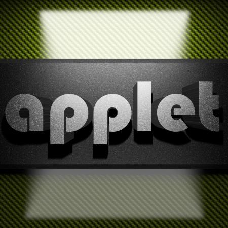 applet: metal word on carbon