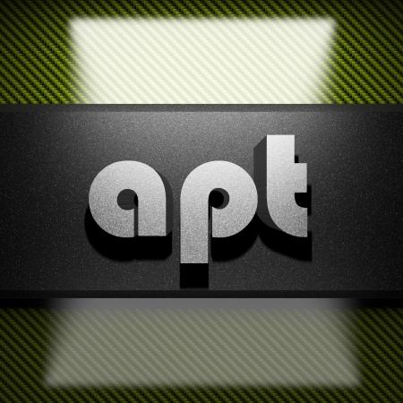 apt: metal word on carbon
