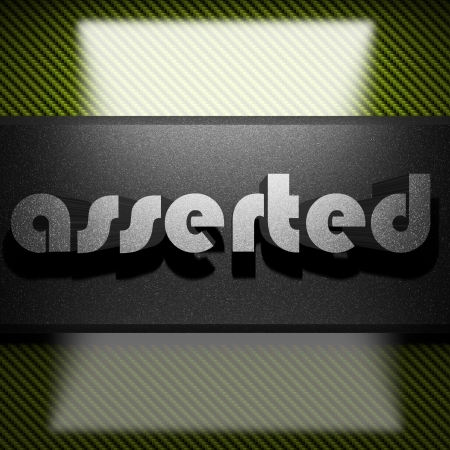 asserted: metal word on carbon