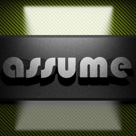 assume: metal word on carbon