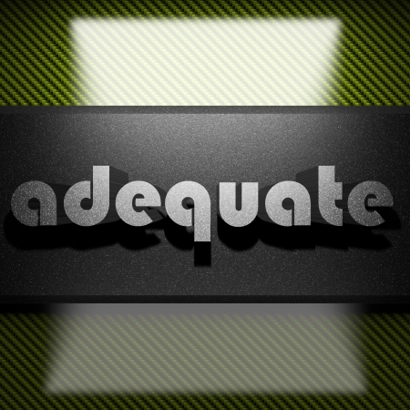adequate: metal word on carbon