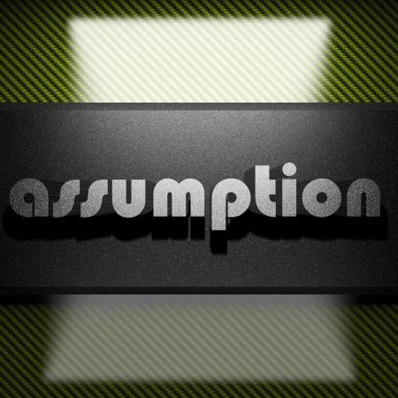 assumption: metal word on carbon