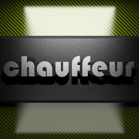 Chauffeur: metal word on carbon